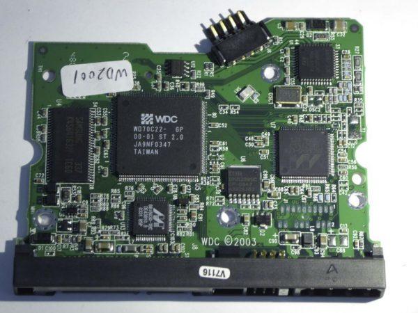 Western Digital-WD2000JD-00FYB0-2060-001215-003 REV A--ID4151-Back